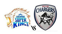chennai super kings vs deccan chargers ip5, super kings vs deccan chargers will face to face