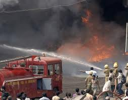 fire in timber market in indore