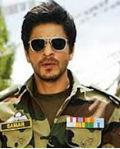 srk happy with army officer role