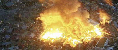 japan tragedy, nuclear plant fire again