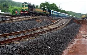 konkan rail disturb due to landslide