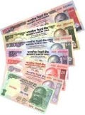 rupee against the dollor reached below 57
