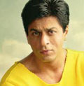 sharukh khan  happy in kashmir
