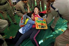 tibetian protest new delhi, seven more tibetian protesters arrested